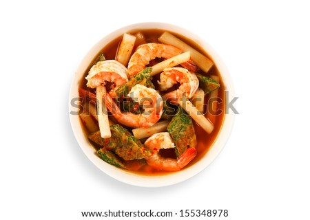 Spicy Thai Soup With Shrimp Thai Soup Shrimp And Mixed