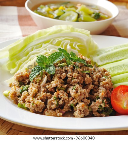 Thai Spicy minced meat salad