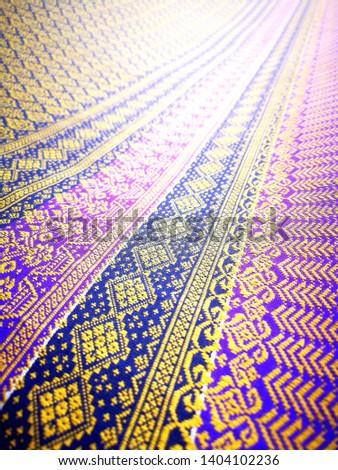 Thai striped fabric Thai striped fabric #1404102236