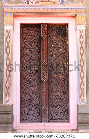 Thai-style doors. Another unique part of Thailand