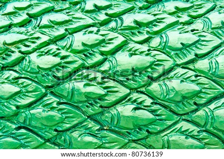 Thai style green this bit of fish - stock photo