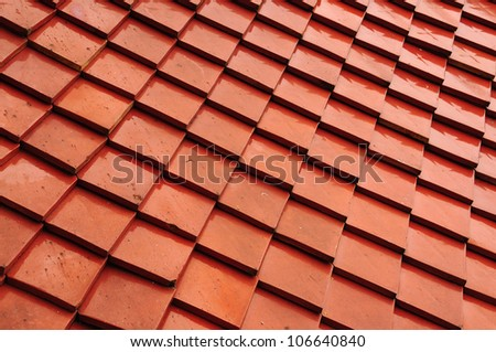Thai style red roof background