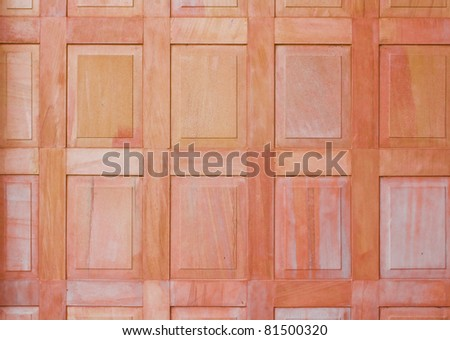Thai style sand stone partition