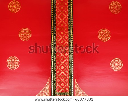 thai temple ceiling - stock photo