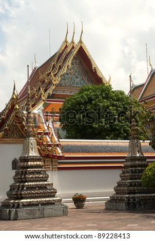 Thai temple in Bangkok .