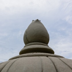 Thai temple object and Blue sky