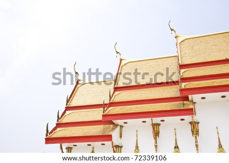 thai temple Phrong Akat Temple Chachengsao In Thailand