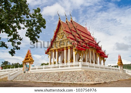 Thai temple place for practice the dharma of Buddhist monk