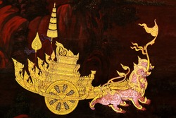 Thai temple wall paintings