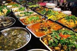 Thai, Thailand street food. Spicy, seafood, veggie