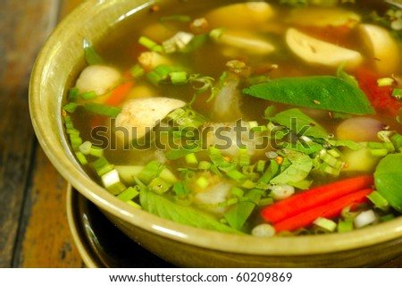 thai tom yum soup hot and sour