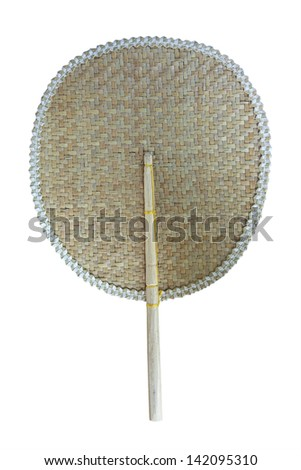 Thai tradition fan isolate on white