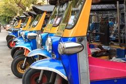 Thai TukTuk taxi waiting for customers.