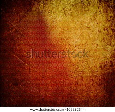 Thai vintage background grunge texture