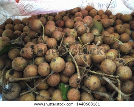 Thai wild fruits with a sour taste