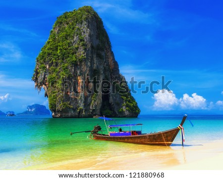 Thailand beach exotic island. Tropical paradise for Asia holiday