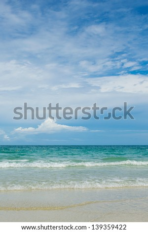 Thailand beach in summertime