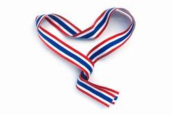 Thailand Flag ribbon isolated on white