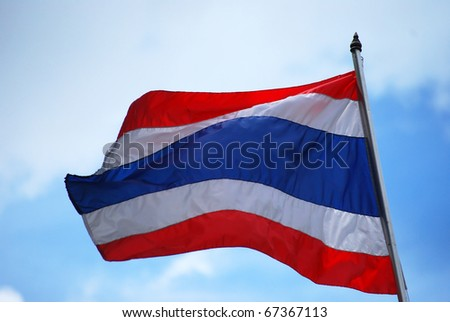 Thailand Flag Wave Flying