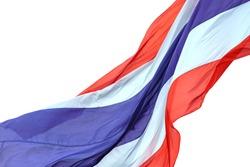 Thailand flag, Waving flag of Thailand on white background