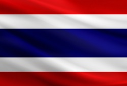 Thailand flag with fabric texture