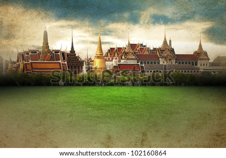 Thailand - Grand Palace - vintage picture