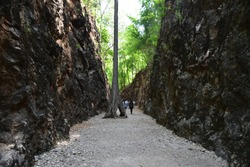 Thailand ,Kabchanaburi : Hellfire pass  , The famous  memorials  landmark of Death railway in worldwar 2 at Kanchanaburi, Thailand