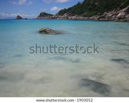Thailand Ko Samui Choeng Mon beach - stock photo