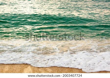 Thailand, Ko Samui. Light surf hitting the beach. Zdjęcia stock ©