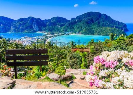 Thailand, Koh Phi Phi island, Krabi province.