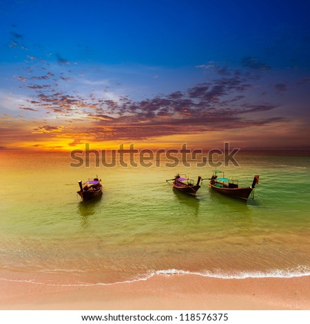 Thailand nature landscape. Tourism background with sea beach. Holiday journey destination