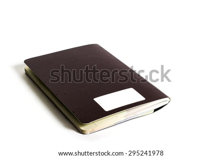 Thailand passport on white background #295241978