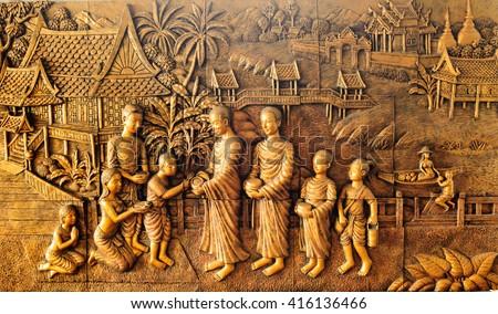 thailand sandstone craft buddha ...