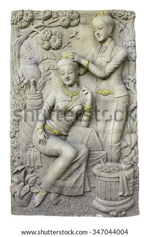 Thailand statue woman art