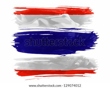 Paint Colors Thailand Thailand Thai Flag Painted