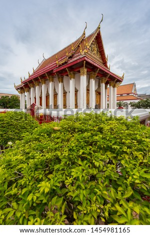 Thailand Traditional Architecture Building in Wat Matchimawat or Wat Klang Considered as The Most Important Temple in Songkhla, South of Thailand.