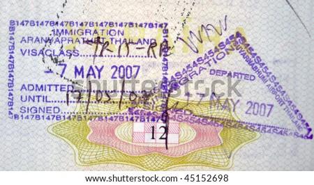 Thailand visa passport stamps