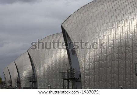 thames barrier woolwich docklands london city england