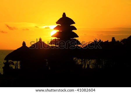 Thanalot temple at sunset - Bali.