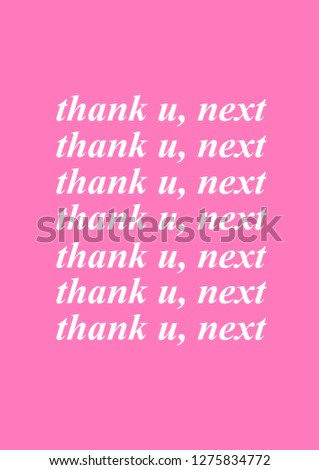 thank u next poster with pink background