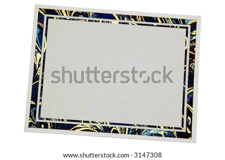 Thank you card isolated on white an humble gesture