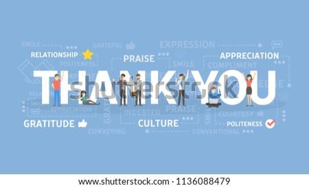 Thank you concept illustration. Idea of grateful and appreciation.