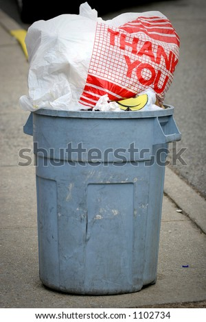 Thank You Garbage Can Trash Stock Photo 1102734