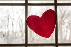 Thank you heart in the window