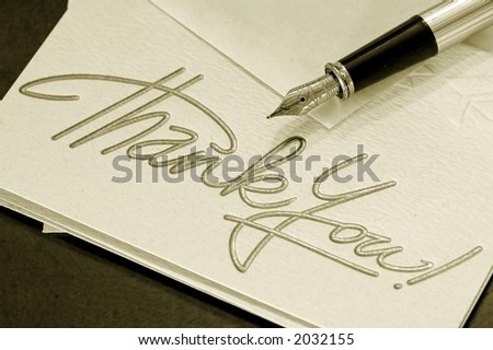 thank you notes. thank you notes. stock photo