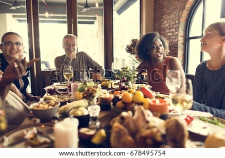 Thanksgiving Celebration Tradition Family Dinner Concept #678495754