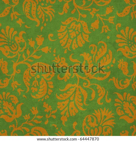 Thanksgiving Collection Damask Texture Background