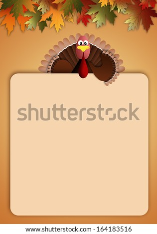Thanksgiving Day background with turkey