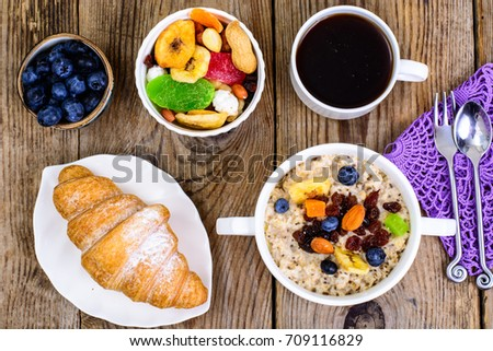 Thanksgiving day breakfast. Studio Photo