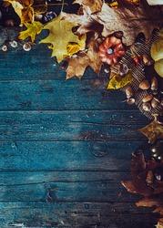 Thanksgiving dinner. Autumn fruit. Thanksgiving autumn background